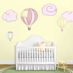 My Wonderful Walls Hot Air Balloons and Cloud Wall Stickers Color: Tutu