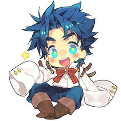 very smol and cute, just like Jonathan Fanarts Anime, Anime Chibi, Kawaii Anime, Jojo's Bizarre Adventure Anime, Jojo Bizzare Adventure, Bizarre Art, Jojo Bizarre, The Big Hero, Johnny Joestar