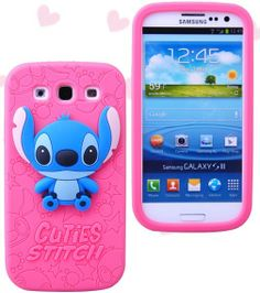 HOT PINK Cute Stereoscopic Cartoon Soft Case Back Cover for Samsung Galaxy S3 i9300