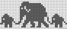 Knitting Pattern For Elephant Family Bab - Qoster Baby Knitting Patterns, Knitting Charts, Loom Patterns, Knitting Stitches, Crochet Patterns, Cross Stitching, Cross Stitch Embroidery, Cross Stitch Patterns, Embroidery Fabric