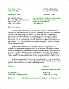 Image Result For Business Letter Sample  Business