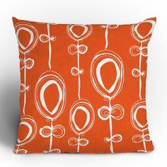 DENY Designs Rachael Taylor Contemporary Orange Throw Pillow