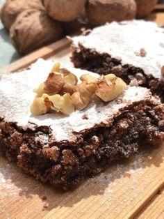 Receta de Brownies con chocolate y nueces facil y rapida.