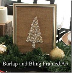 Burlap and Bling Framed Art