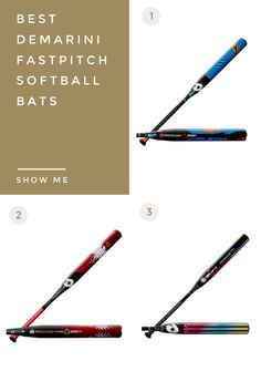 In-depth article showing you exactly which is the best DeMarini fastpitch softball bat for you in 2021. There are three to choose from and multiple sizes and designs. Find out in less than 5 minutes which one is best for you. Softball Equipment, Birthday Wishlist, Baseball, Baseball Promposals, The Bucket List
