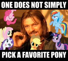 Rainbow…no, Applejack…no, Pinkie…but what about Derpy…or Doctor Whooves…but then there's DJ Pon-3…