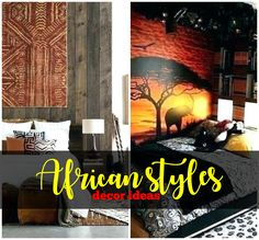 African styles home decor