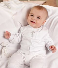 Handmade baby boy clothes  Baby Baptism Set for boy consists of a white blouse, white hat, white booties, white panties and white pouch for hair. Baptism outfit for boy. Christening blouse is made of natural cotton. Blouse are on a convenient snap closure - buttons. Very convenient, and you can quickly change your baby boy. This beautiful baby set can be used like Coming Home Outfit gift or like handmade Christening gift. Front blouse adorned with embroidered cross-stitch, cross-stitch…