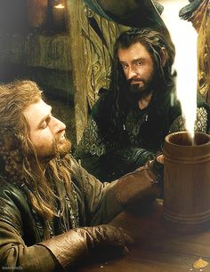 """Does anyone else realize how much of a father figure Thorin is for Fill and Kili? I mean he's always watching out for them and they die for him. What greater """"thank you for everything"""" is there?"""