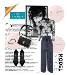 """Amorium 6/10"" by miranda-993 ❤ liked on Polyvore featuring Essie, Balmain, Yves Saint Laurent, MSGM, Glamorous, Amorium, women's clothing, women, female and woman"