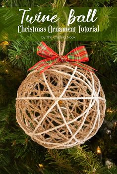 Want to add a rustic and yet glamorous touch to your Christmas tree? Here you will find a cute Twine Ball Christmas Ornament Tutorial!!!