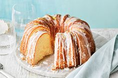 Lemon Bundt Cake—Hello, gorgeous! Thanks to its distinctive fluted ring shape, the Bundt is renowned as a showstopper. With three layers of lemon, this citrus-infused cake is simple, sweet and oh-so stunning.