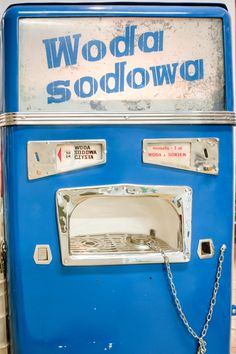 At in an original soda water machine and other relics of Soviet influence in Poland are on display. Poland People, Warsaw Poland, Display, The Originals, Retro, Water, Theatre, Geek, Vintage