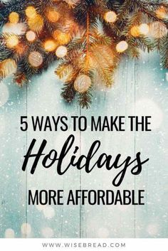 You should probably steer clear of holiday loans if you can figure out a way to avoid them. Here are some alternative ways to make your Christmas holiday budget last. Ways To Save Money, Make More Money, Money Saving Tips, Money Tips, How To Make, Money Savers, Savings Planner, Budget Planner, Christmas On A Budget