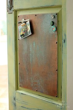 Creating a Patinated Door Panel and Hardware with Modern Masters Metal Effects | Pretty Handy Girl