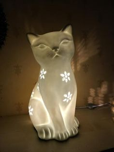 George Home Porcelain Cat Lamp, read reviews and buy online at George at ASDA. Shop from our latest range in Home & Garden. Purrfect for cat lovers, this cer... Cat Lamp, Asda, Cool Stuff, Stuff To Buy, Cat Lovers, Porcelain, Home And Garden, Range, Cats