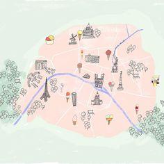 La carte de la meilleure Street Food à Paris - Carte - My Little Paris Street Food Paris, Resto Paris, My Little Paris, Glacier, Travel Guides, Instagram, Illustrations, Detail, Color