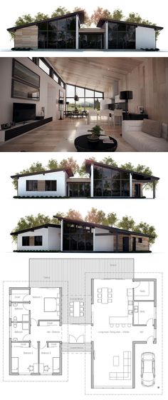 Modern house plans modern home plans architecture floor plans homeplans houseplans architecture interiordesign Houses Architecture, Architecture Design, Container Architecture, Architecture Portfolio, Residential Architecture, Building A Container Home, Container Homes, Container House Plans, Casas Containers