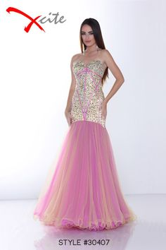 Xcite Prom 2014 Collection Style #30407 #prom #dress #mermaid