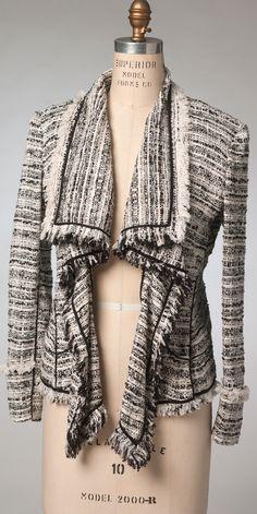 Donna Karen for Vogue Patterns fringed jacket. V1440.