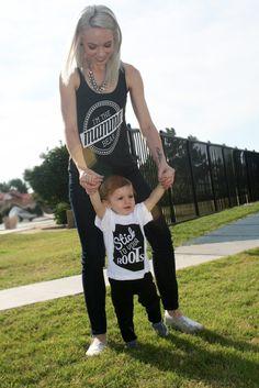 Mamma Bear Tank Top & AZ Kids Tshirt. Stick to your roots. Cute kids fashion.
