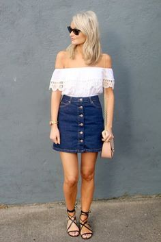 What To Wear With Your Denim Skirt