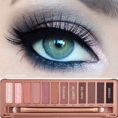 .@iheartmakeupart | Good morning! Here are the details for my Urban Decay NAKED 3 palette look! B... | Just Like My eye colour!