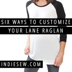Contrast sleeves, elbow patches, and high-low hems are just a few of the ways you can customize your Lane Raglan! Crochet Projects, Sewing Projects, Learn To Sew, How To Make, Elbow Patches, Digital Pattern, Sewing Techniques, Refashion, Dressmaking