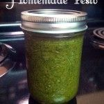 Homemade Pesto Recipe, this can store in the fridge for a year, or be frozen. Not suitable for canning, even pressure canning.
