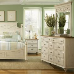 Liberty Furniture 303-BR-SET50 Ocean Isle Dresser and Mirror Set