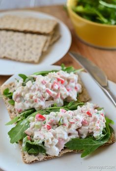 Slimming Eats Crab Stick Salad - Slimming World and Weight Watchers friendly