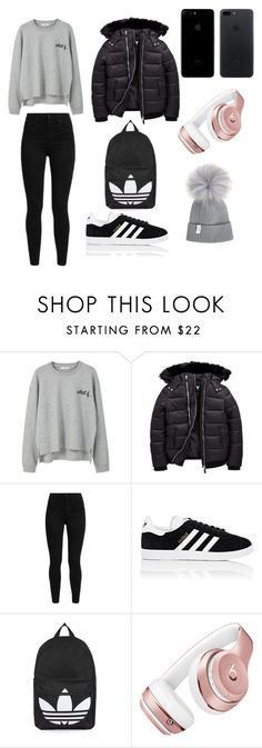 """Untitled #65"" by taniakhan487 ❤ liked on Polyvore featuring MANGO, Levi's, adidas, Topshop and Beats by Dr. Dre"