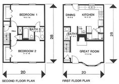 "2 BR 1.5BA Townhouse Floors:	2  Living Sq Feet:	1131  Bedrooms:	2  Full Baths:	1  Half Baths:	1  Width:	20' 0""  Depth:	28' 0"""