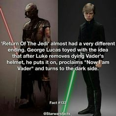 What a wild ending that would have been! // Star Wars Facts << Duuuuude, could you imagine? What would an Episode VII be like if that happened ? Star Wars Trivia, Star Wars Facts, Star Wars Humor, General Lee, Starwars, Star Wars Images, The Force Is Strong, Love Stars, Reylo