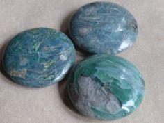 Green kyanite palm stones Green KyaniteKyaniteInner by MagicaLuna