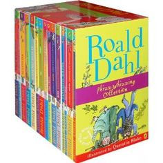 Roald Dahl Set:  + Fantastic Mr Fox  + The Witches  + The Twits  + James and the Giant Peach  + Charlie and the Chocolate Factory  + The BFG  + The Magic Finger  + The Giraffe and the Pelly and Me  + Esio Trot  + Boy Tales & Childhood  + Matilda  + Charlie and the Great Glass Elevator  + Danny the Champion of the World  + George's Marvellous Medicine  + Going Solo