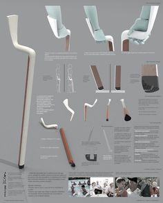 Walking Stick on Behance Industrial Design Portfolio, Industrial Design Sketch, Portfolio Design, Interior Design Presentation, Instructional Design, Healthcare Design, Poster Layout, Walking Sticks, Design Process