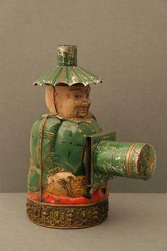 "Laterna Magica  W 30 cm x H 40 cm ""Buddha"" Louis Aubert France 1879"
