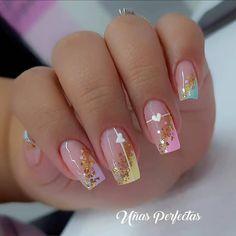 Gem Nails, Nail Manicure, Love Nails, Hair And Nails, Chic Nails, Stylish Nails, Trendy Nails, Cute Acrylic Nails, Acrylic Nail Designs