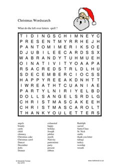 "Free Christmas Wordsearch and Crossword Puzzle from the ""Pooch Puzzles"" series."
