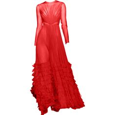 valentino edited by metalheavy ❤ liked on Polyvore featuring gowns, dresses, long dress, edited and maxi dress