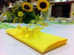 Wedding Decoration. Hochzeitsdekoration .gelb festliche-dekoration.de