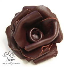 how to make leather flowers