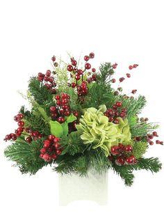 Winter Floral Arrangements, Large Flower Arrangements, Christmas Flower Arrangements, Grave Decorations, Christmas Tree Decorations, Flower Decorations, Holiday Decor, Winter Flowers, Faux Flowers