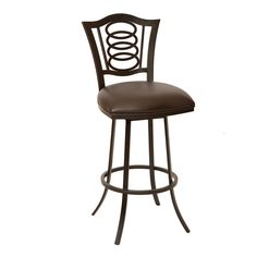 "ARMEN LIVING Essex 26"" Transitional Barstool In Coffee and Auburn Bay Metal"