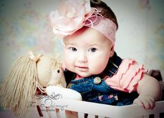Faixa bebe luxo rosa