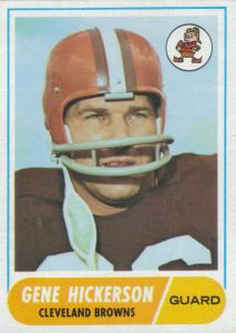 gene hickerson football cards | Gene Hickerson 1968 Topps #76 football card