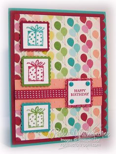 Happy Birthday card featuring Stampin' Up! products #StampinUp