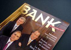 Bank Magazine - Publicación masiva  Realizamos la dirección de arte, diseño y diagramación de la revista bank, publicación bimestral destinada al sector financiero. En este proyecto también realizamos el isologotipo