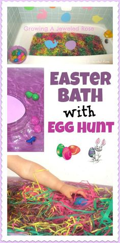 Have an Easter egg hunt in the bath- no yard necessary!